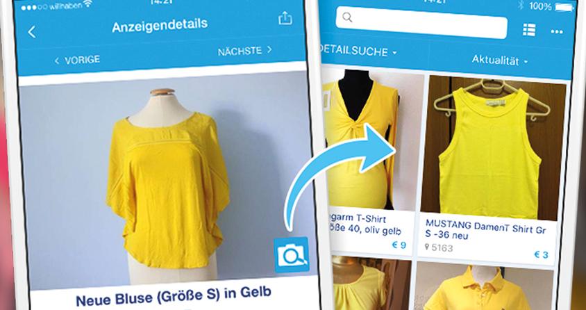 Wunsch Kleidungsstuck Abfotografieren Und Willhaben Sucht Automatisch Nach Ahnlichen Teilen Leadersnet