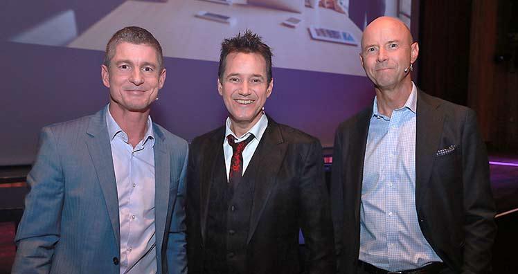Helmut Hafner, Dietmar Dahmen and Peter Saak © LEADERSNET / Langegger