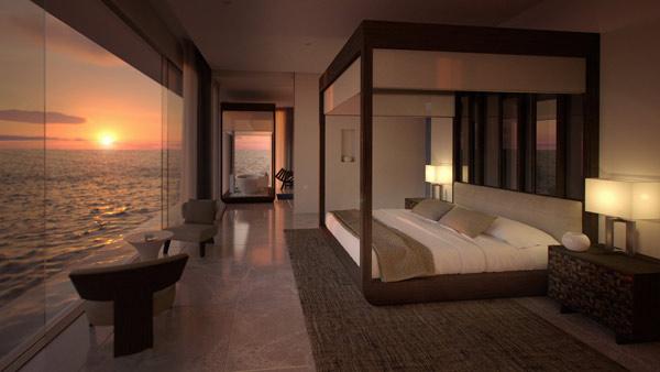 auf den malediven er ffnet die erste hotelsuite unter. Black Bedroom Furniture Sets. Home Design Ideas