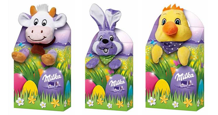 Milka mit neuen Produkten und neuen Designs für Ostern